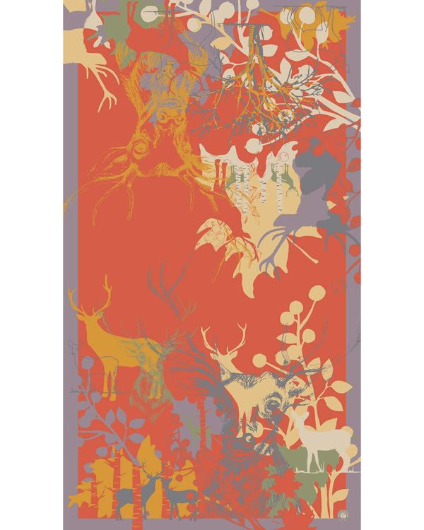 Powder Stag Silhouette Print Scarf