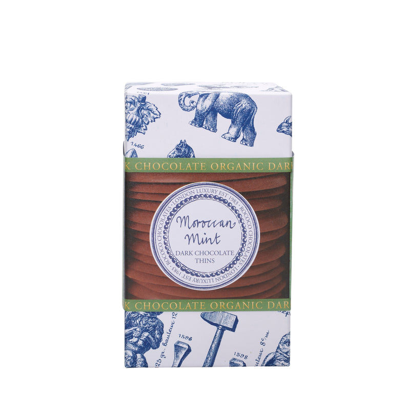 MINT ORGANIC DARK CHOCOLATE WAFER THINS 150G