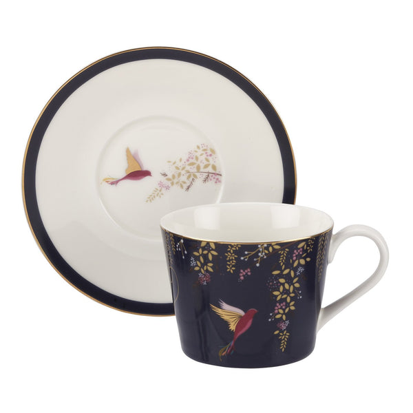 TEACUP AND SAUCER NAVY