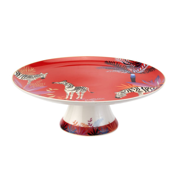 TAHITI FOOTED CAKE PLATE