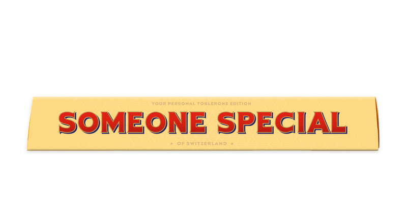Toblerone Someone Special Personalised Toblerone Bar 100G