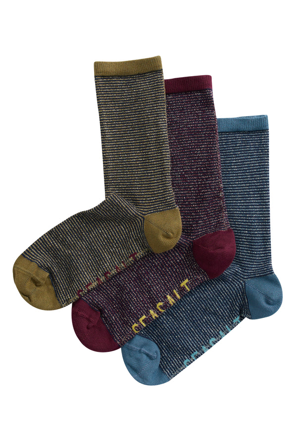 SPARKLE BOX OF 3 SOCKS