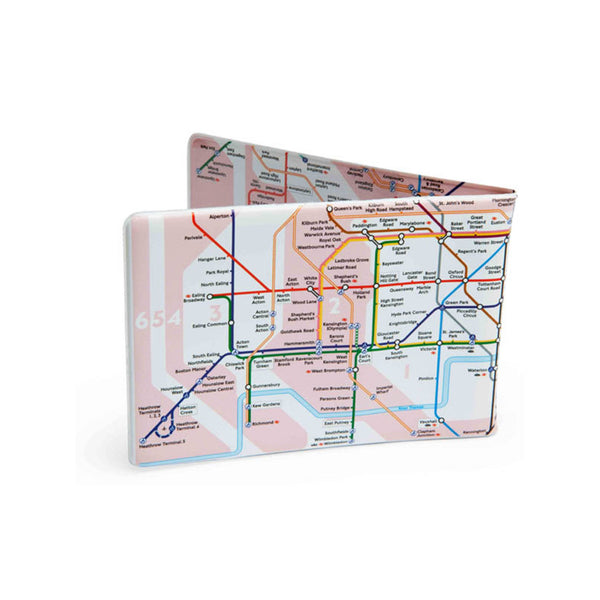 TUBE MAP TRAVEL WALLET