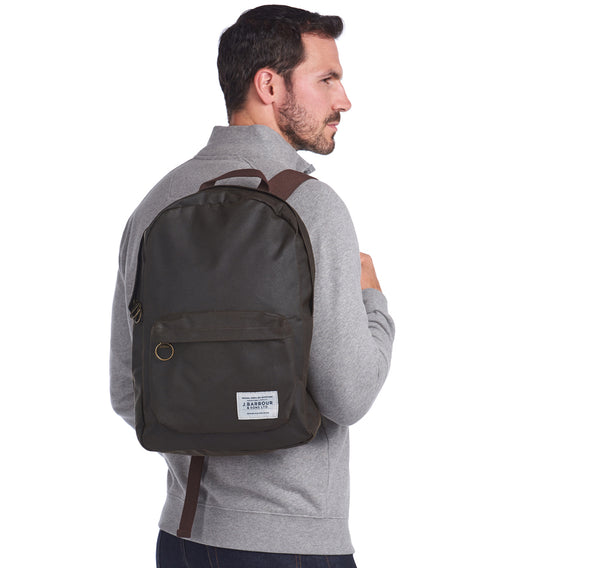 EADAN WAXED OLIVE BACKPACK