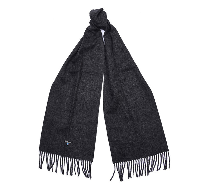 PLAIN CHARCOAL LAMBS WOOL SCARF