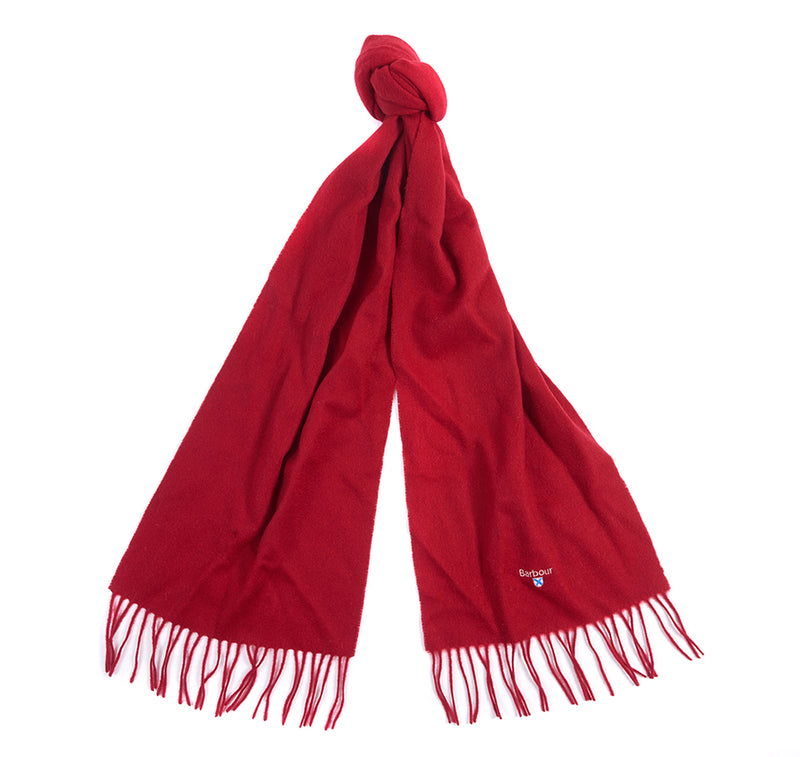 PLAIN RED LAMBS WOOL SCARF