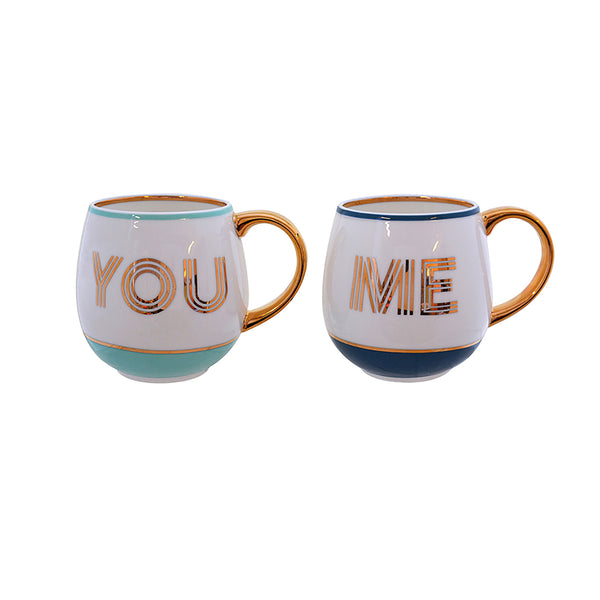 Bombay Duck You & Me Library Mugs, Set Of 2