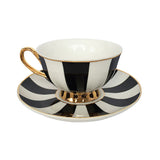 STRIPY TEACUP AND SAUCER