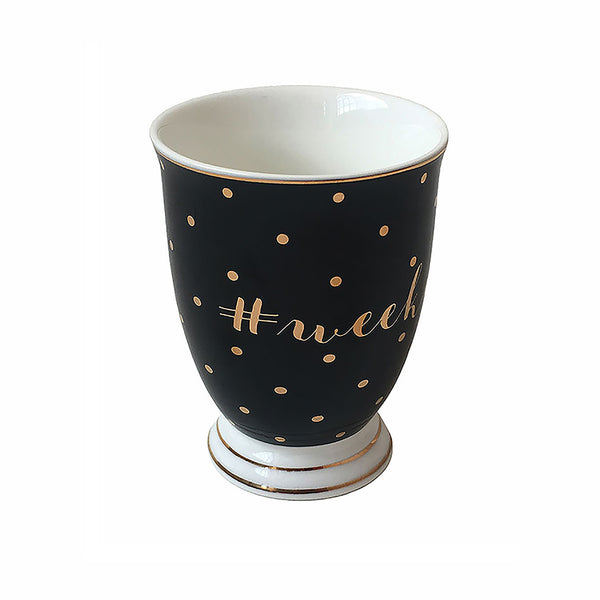 Bombay Duck Weekend Mug With Gold Spots