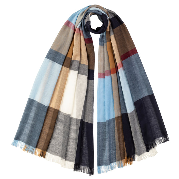 OVERSIZED COLOUR CHECK SCARF