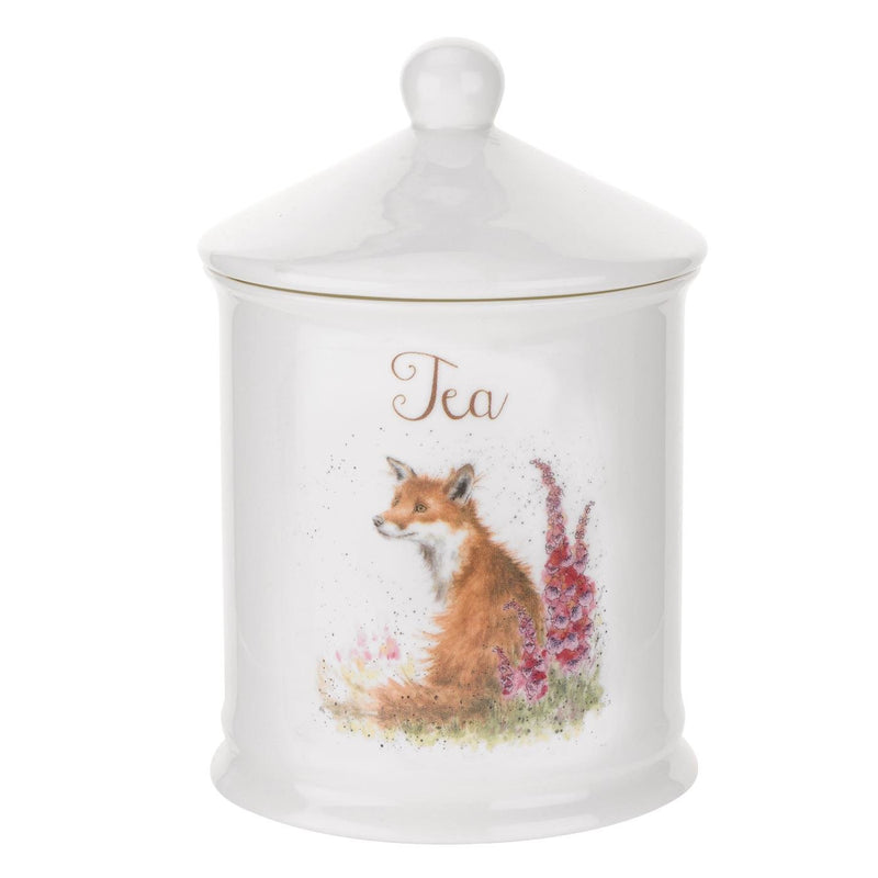 FOX TEA CANISTER