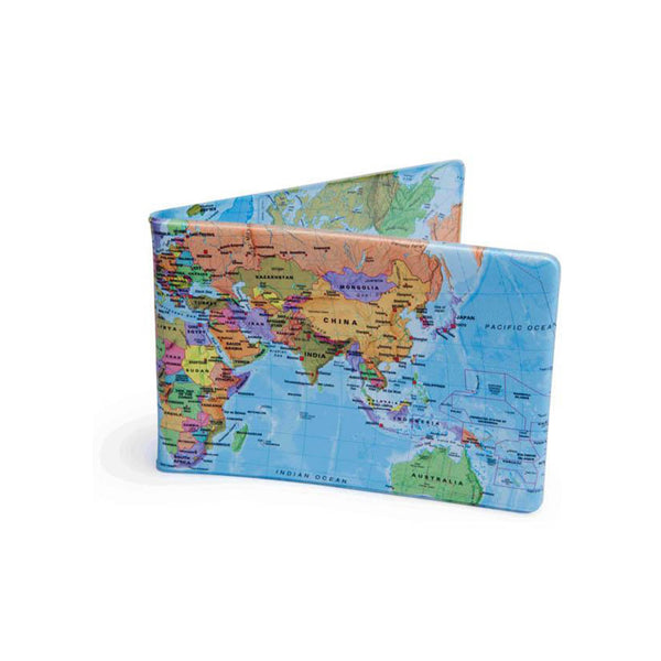 Crafted Lines World Map Travel Wallet
