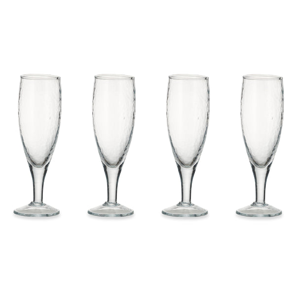 YALA HAMMERED CHAMPAGNE GLASSES