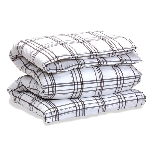SLEEK CHECK DUVET COVER
