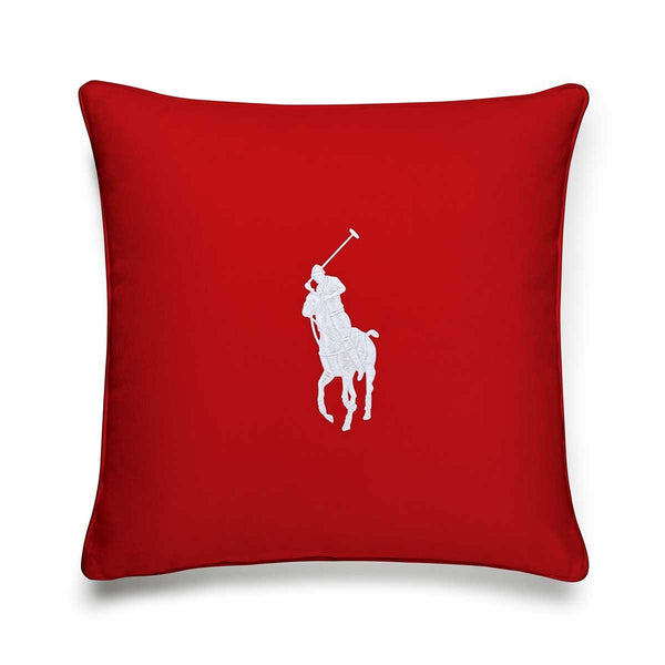 PONY RED/WHITE CUSHION COVER