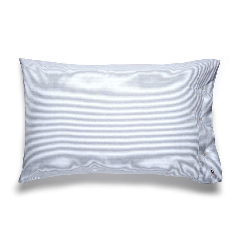OXFORD BLUE PILLOWCASE PAIR