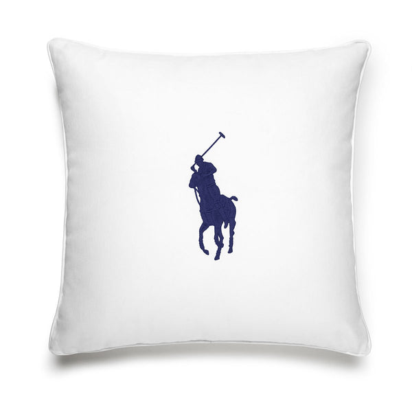 PONY NAVY CUSHION COVER