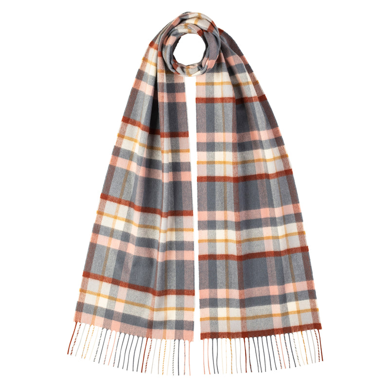 Johnstons Of Elgin Plaid Check Scarf