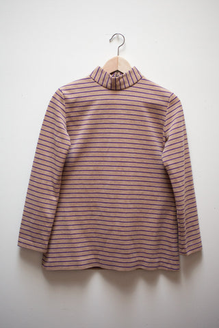 Striped Mock Neck Shirt