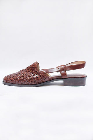 Bass Woven Sling-backs Size 9