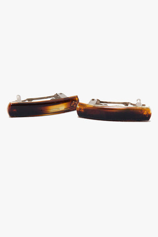 Deadstock Tortoise Shell French Barrettes