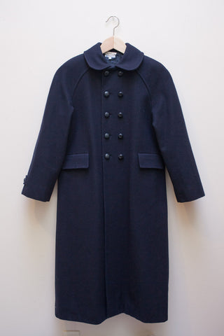 Navy Peter Pan Collar Coat