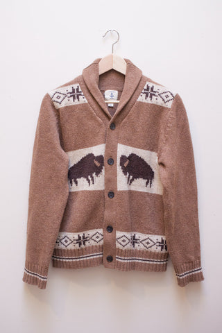 Land's End Bison Cardigan