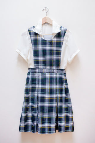 Plaid School Girl Pinafore