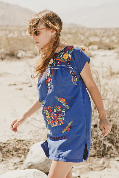 Blue Oaxacan Dress