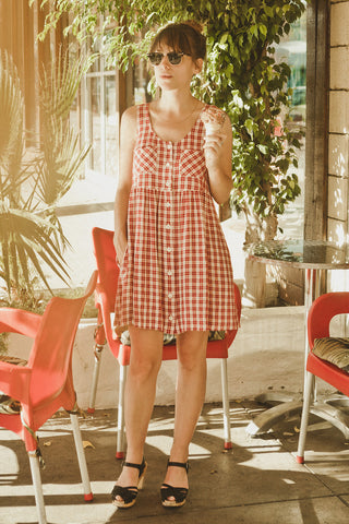 Red Plaid Picnic Dress