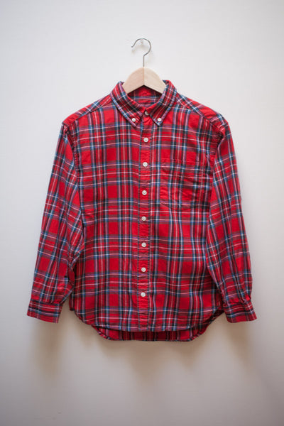 Red Plaid Button Up