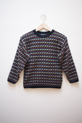 Cropped Striped Cosby Sweater