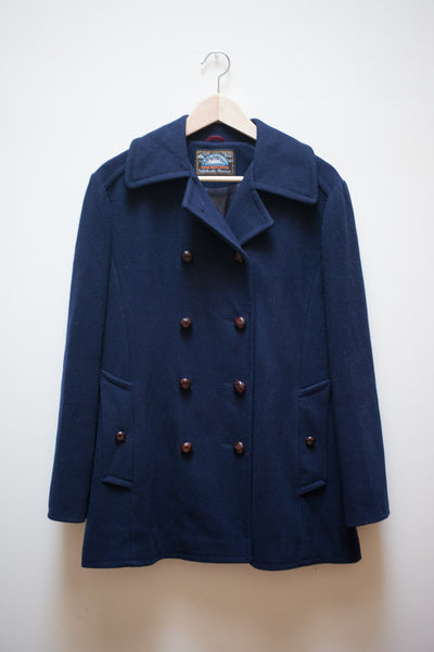 Wool Mackintosh Peacoat