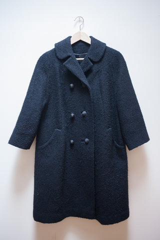 60's Wool Bouclé Swing Coat