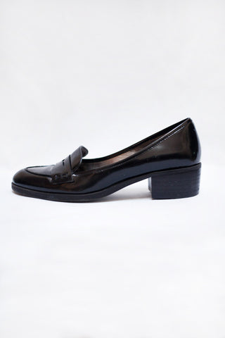 Black Patent Penny Loafers Size 6