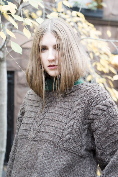 Hand Knit Wool Sweater