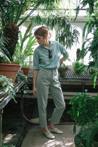 Light Green Mom Jeans