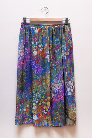 Floral Watercolor Skirt