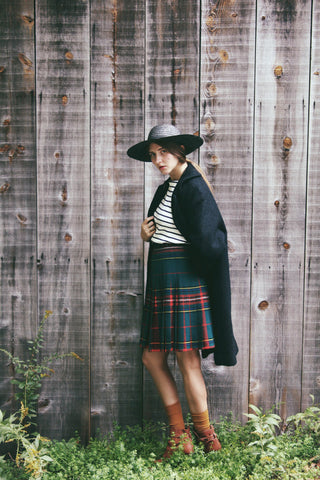 Reversible Plaid Pendleton Skirt