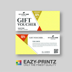 Custom Designed Tickets and Vouchers Printing Service