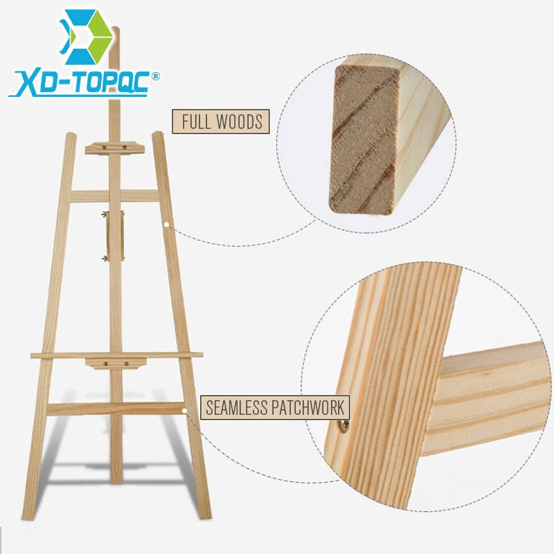 Wooden Adjustable Pine Wood Art Painting Easel - eazyprintz - Top Printing Service In Singapore