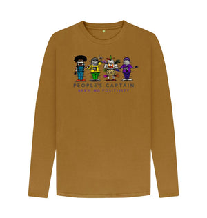 Brown Men's Large Logo Mustard Long Sleeve T-shirt