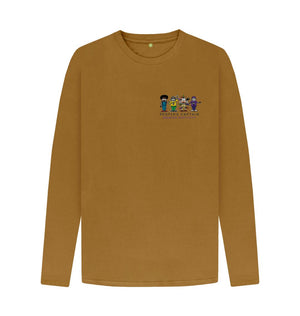 Brown Men's Mustard People's Captain Long Sleeved T-Shirt