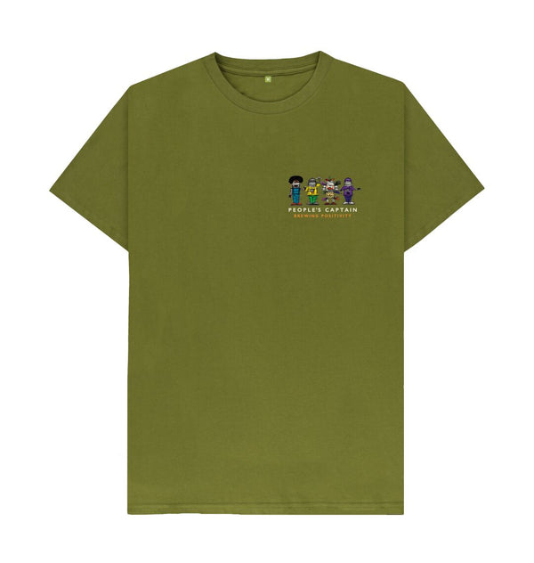 Moss Green Men's Green People's Captain T-Shirt