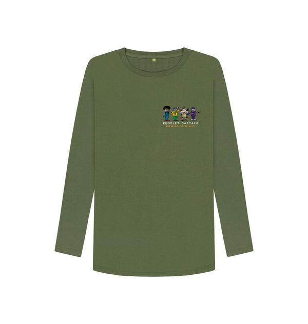 Khaki Women's Green People's Captain Long Sleeved T-Shirt