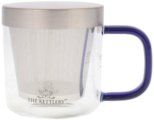 Milano Glass Tea Cup with Infuser - Tea Cups with Infuser-The Kettlery