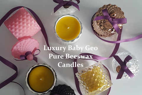 Baby Geo Beeswax Candle