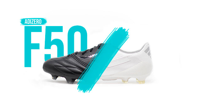 Adidas Vault Series - F50 adizero collection - All white and all black soccer cleat with plastic studs