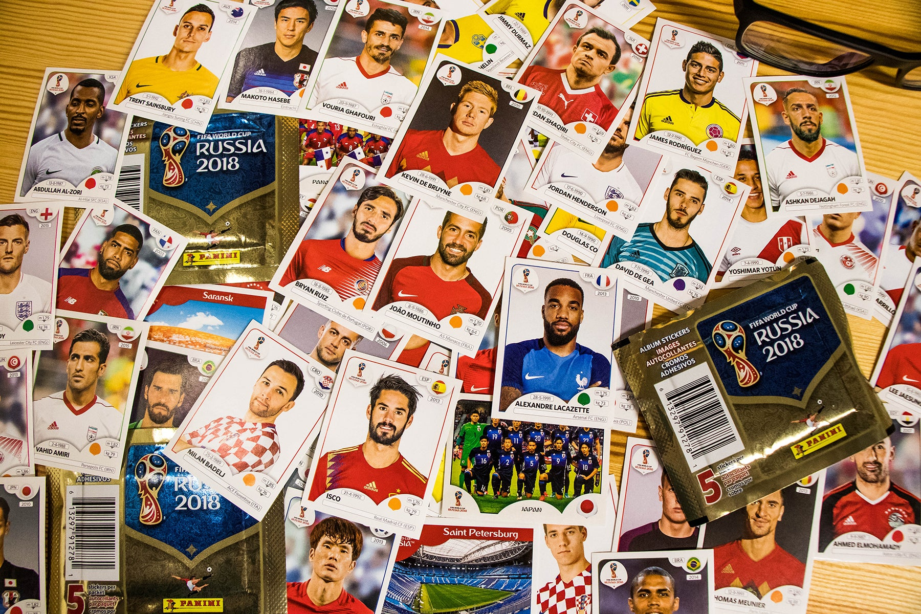 Panini Player Stickers World Cup 2018