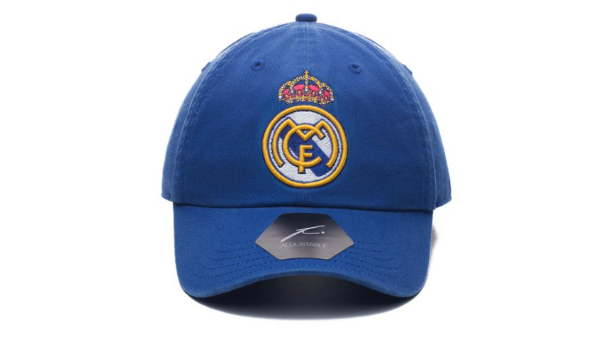 fi collection real madrid dad hat blue, 100% twill cotton